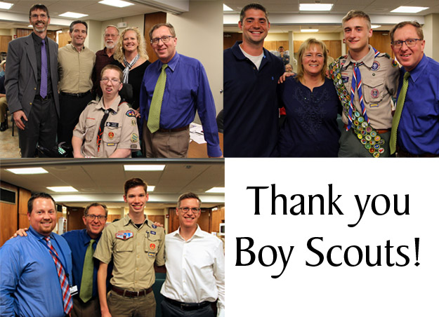 Boy Scouts Honored at Governing Board Meeting