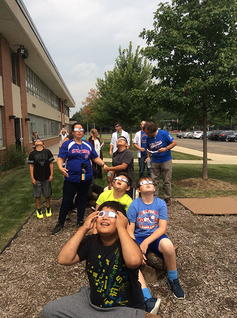 NSSEO Students and the Solar Eclipse